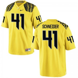 For Men Limited Oregon Ducks Jerseys Aidan Schneider Gold Jerseys