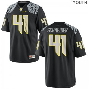 Oregon Ducks Aidan Schneider Jerseys S-XL Limited For Kids - Black