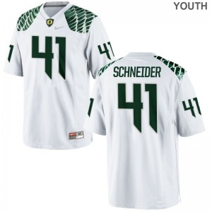 Limited University of Oregon Aidan Schneider For Kids Jerseys S-XL - White