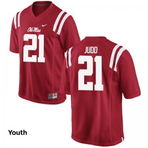 Rebels Akeem Judd Jersey Youth XL Limited Kids Red