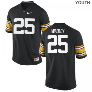 Youth Limited Iowa Jerseys S-XL Akrum Wadley - Black