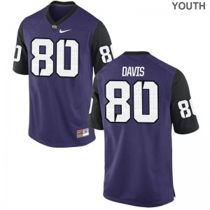 Limited Al'Dontre Davis Jerseys S-XL Texas Christian Purple Black For Kids
