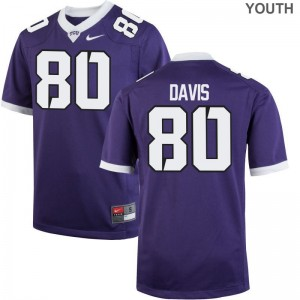Horned Frogs Purple Limited Youth(Kids) Al'Dontre Davis Jerseys Medium