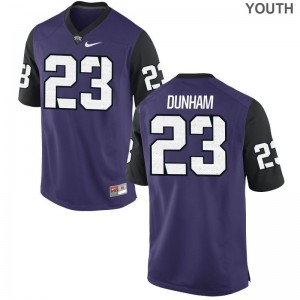 Alec Dunham For Kids Jersey Medium Limited Purple Black TCU