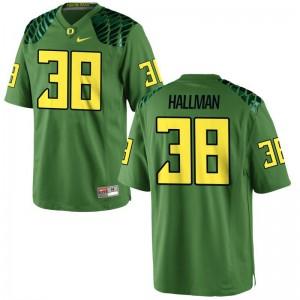 Alec Hallman Mens Apple Green Jersey Limited Ducks