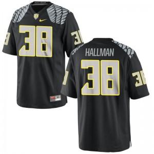 University of Oregon Alec Hallman Jerseys X Large Mens Limited - Black