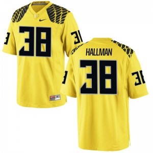 University of Oregon Alec Hallman Jerseys X Large Limited For Men Gold