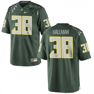 Oregon Ducks Alec Hallman Jersey XXL Green Limited For Men