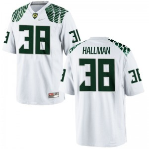 Mens Alec Hallman Jerseys Embroidery White Limited UO Jerseys