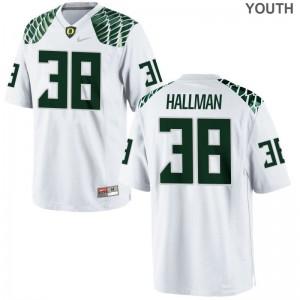 Alec Hallman Ducks Jersey XL Youth(Kids) Limited Jersey XL - White
