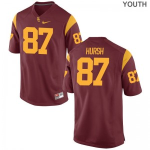 Trojans Alec Hursh Jersey Youth XL For Kids White Limited