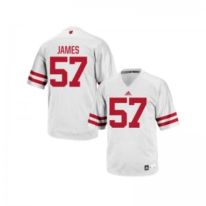 Wisconsin Alec James Jersey XXL White Mens Authentic