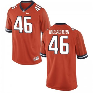 For Men Limited Illinois Jerseys Alec McEachern Orange Jerseys