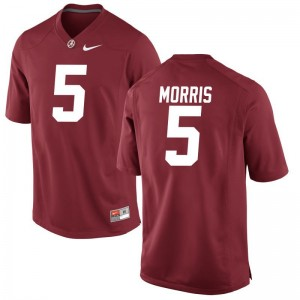 Alec Morris Alabama Jerseys S-3XL For Men Limited - Red