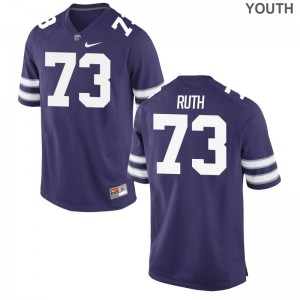 K-State Alec Ruth Jersey Medium Purple Kids Limited