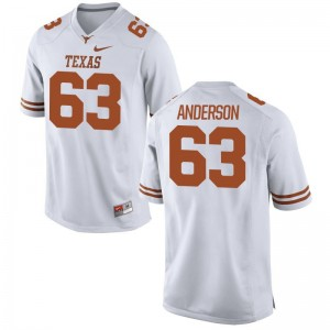 Limited Men Texas Longhorns Jersey XXL of Alex Anderson - White