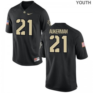 Limited Alex Aukerman Jersey Youth X Large Army Black Youth(Kids)