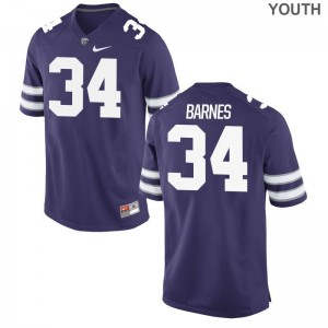 For Kids Limited Kansas State Jersey Youth X Large of Alex Barnes - Purple