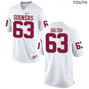 OU Sooners Alex Dalton Kids Limited White Embroidery Jersey