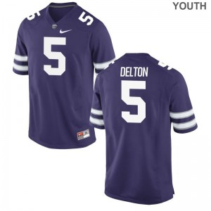 Youth(Kids) Alex Delton Jerseys Small Kansas State Limited Purple