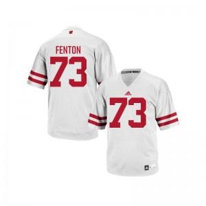 Authentic Alex Fenton Jerseys Mens Large Wisconsin Badgers White Mens