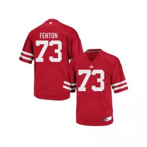 Wisconsin Mens Replica Alex Fenton Jerseys X Large - Red