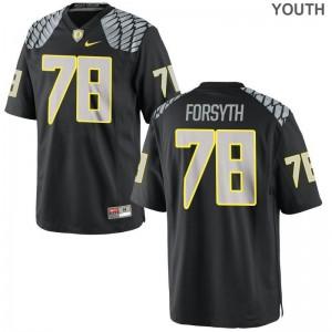 Alex Forsyth Kids Jersey Youth X Large Black University of Oregon Limited