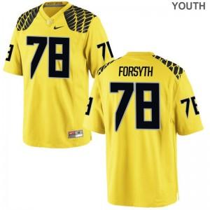 UO Alex Forsyth Jersey XL Youth(Kids) Limited Gold