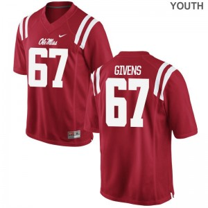 Alex Givens Ole Miss Rebels Jersey Medium Red Kids Limited