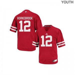 Alex Hornibrook University of Wisconsin Kids Jerseys Red Authentic Jerseys