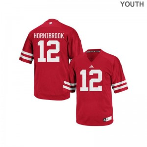 UW College Alex Hornibrook Replica Jersey Red Youth