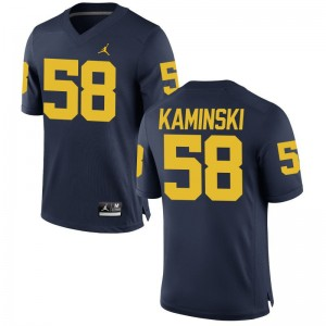 Alex Kaminski Michigan Wolverines Jersey XXX Large Limited Jordan Navy For Men