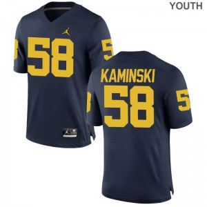 Michigan Wolverines For Kids Jordan Navy Limited Alex Kaminski Jersey Youth Medium