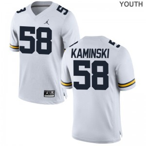 Limited Jordan White Alex Kaminski Jersey Youth Small Youth Michigan