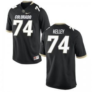 Alex Kelley Colorado Jerseys Large Limited Black Youth(Kids)