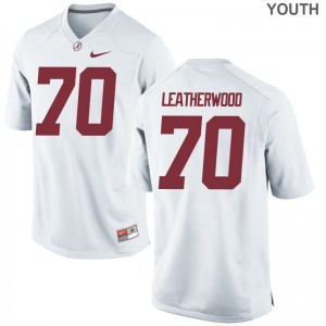 Alex Leatherwood Alabama Crimson Tide Jersey Youth Small Youth(Kids) Limited Jersey Youth Small - White