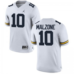 Alex Malzone For Men Jerseys Large Jordan White Limited University of Michigan