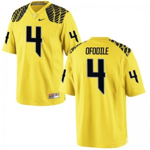 University of Oregon Alex Ofodile Jerseys S-3XL Gold Men Limited