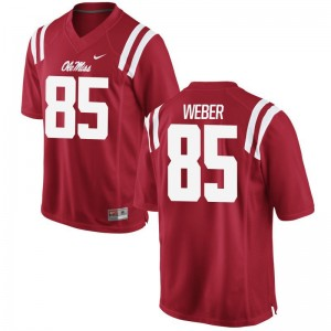 Red Limited Alex Weber Jersey Men Large For Men Ole Miss