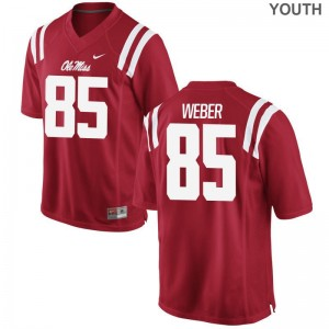 Alex Weber Youth(Kids) Jersey Medium Limited Ole Miss Rebels - Red
