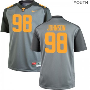 For Kids Alexis Johnson Jerseys Youth X Large Tennessee Limited Gray