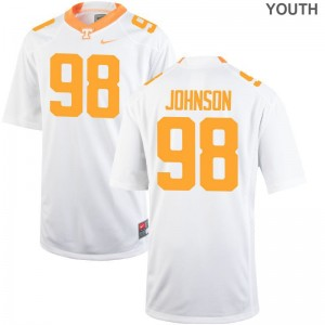 Alexis Johnson Youth Tennessee Vols Jerseys White Limited Jerseys