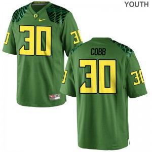 University of Oregon Limited Kids Apple Green Alfonso Cobb Jersey Youth X Large