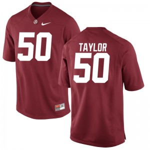 Mens Limited Stitch Alabama Jerseys Alphonse Taylor Red Jerseys