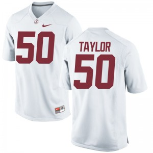 Men Alphonse Taylor Jersey Large Bama White Limited