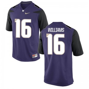 Limited Mens UW Huskies Jersey Amandre Williams - Purple