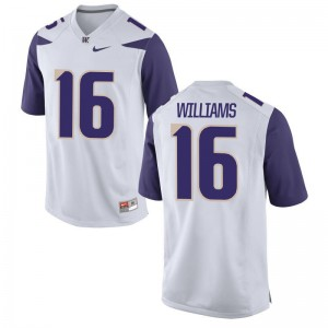 Amandre Williams Men University of Washington Jersey White Limited Official Jersey