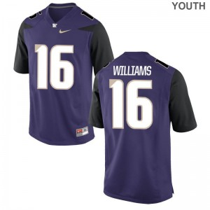 Amandre Williams Youth(Kids) Jerseys XL Washington Purple Limited
