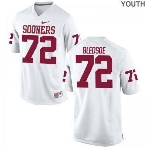 Oklahoma Sooners Amani Bledsoe Jerseys S-XL Youth Limited Jerseys S-XL - White