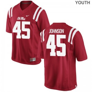 Amani Johnson Kids Red Jersey Large Ole Miss Limited